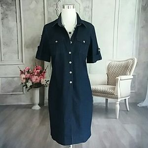 Sharagano Studio Women's Denim Blue Dress Size 12
